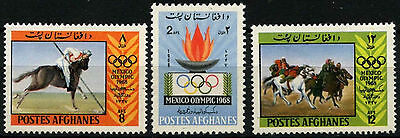Afghanistan 1968 SG#632-4 Olympic Games MNH Set #D33280