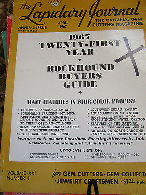 Vtg 1967 Lapidary Journal Rockhound Buyers Guide 21st Year Reference 272p ANNUAL
