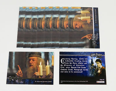 Lot of (10) 2004 Artbox Harry Potter And The Prisoner of Azkaban Promo Card (01)