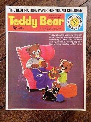 TEDDY BEAR COMIC. 13  JANUARY 1973. NR Mint. Puzzles Not Done. excellent.