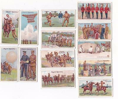 13 x Army Life Players Cigarette Cards 1910