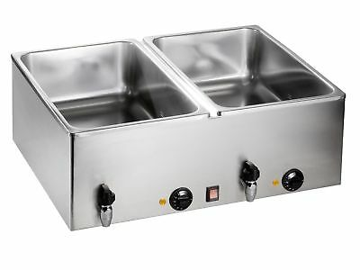 Bain Marie Modell BMH 160-2 Wasserbad Wärmer Made in Europe