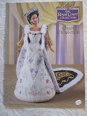 """Annies Attic The Royal Court Queen Elizabeth Ii 11 1/2"""" Doll Clothes Pattern"""