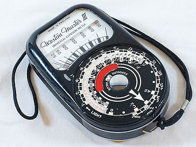 Vintage Weston Master III Universal Exposure Meter - Model No S141-3
