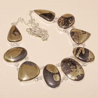 Free Shipping Wonderful Pyrite Silver Necklace 103 Gms