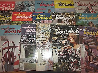 Lot of 16 Vintage Issues Women's Household Magazine 1975 - 1982