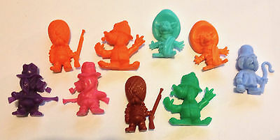 R&l 1971 Cereal Toy Corny Canines ~ Lot Of 9 ~ Aussie Kelloggs Originals