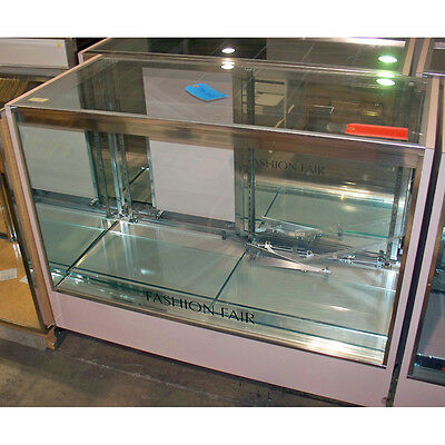 Glass Mirror Merchandise Sales Store Display Showcase Counter Cabinet Fixture