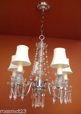 Vintage Lighting antique 1930s crystal chandelier   Rare Stunning