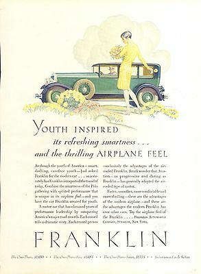 1929 Franklin Airplane Feel  Original  Car  Ad