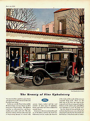 1931  Model A Ford Delux Sedan   Original Vintage Ad