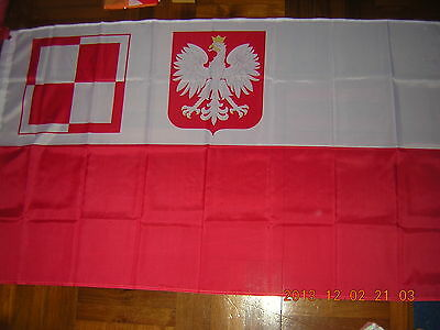 Flag of Poland Air Force in Britain and France Polish Air Force WWII Ensign 3X5