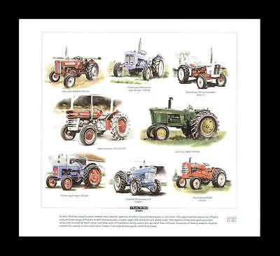 Tractors 1960s David Brown Massey-Fergusson Art Print