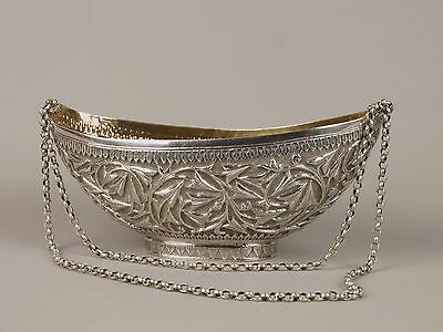 A 19th Century Kashmiri Silver Kashkul & Supporting Chains.