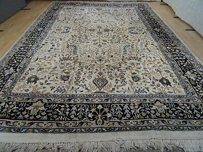 """Large PERSIAN design NAINE CARPET RUG HAND MADE  antique WOOL 12FT 4"""" X 8FT 5"""""""
