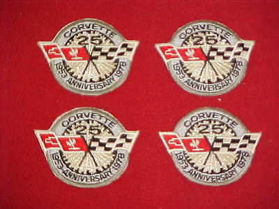 1953 1978 Corvette Vette 25Th 25 Th Silver Anniversary Lot Of 4 Patch Badges 78
