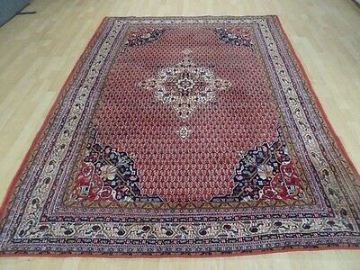 """PERSIAN CARPET RUG HAND MADE Vintage antique Wool 7ft 8"""" x 5ft 8"""""""