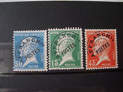 France Preobliteres N° 65/67/68 Neufs Gomme Sans Charniere Ni Trace