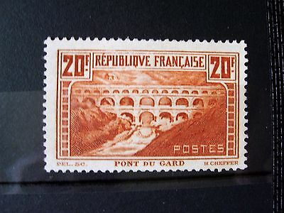 France 1931 Timbre N°262 Pont Du Gard Neuf Gomme Sans Charniere Ni Trace