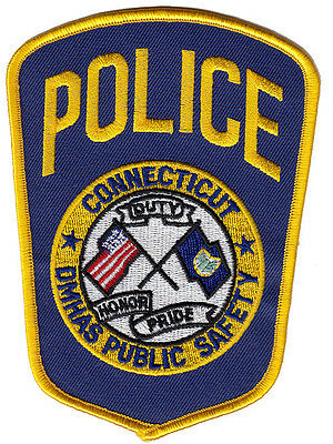 B9 * Htf Dmhas Public Safety Connecticut Ct Police Patch Dps Fbi Swat *