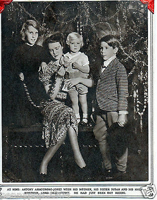 Antony Armstrong-Jones, His Mother, Sister Susan And Half Brother Lord Oxmantown