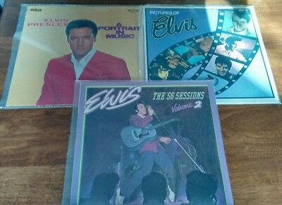 Elvis Presley: 56 sessions 2/Pictures of/Portrait in music (3 x Vinyl LP's)