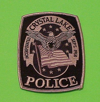Crystal Lake  Illinois  Il  ( Subdued )  Police Patch   Free Shipping!!!