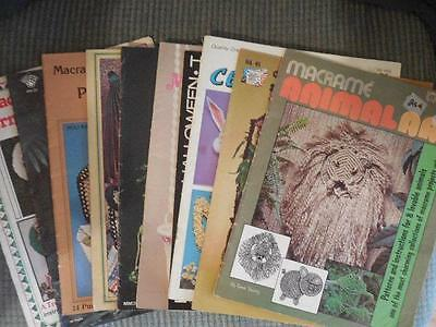 LOT OF 10 MACRAME Pattern Books Purses, Holidays, Animals, Curtains and More
