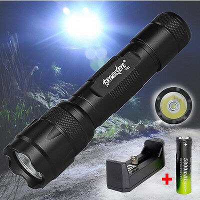 5000lm 5 Modes XML T6 LED Flashlight Tactical Lamp Torch 18650 Battery+Charger