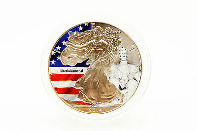 USA - 1 oz American Eagle - Lincoln Memorial - Color 2014 - LAGERRÄUMUNG