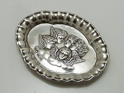 A Stunning Quality Clean Art Nouveau Antique 1904 Solid Silver Pin Dish