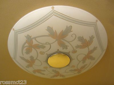 Vintage Lighting very low very wide circa 1950 Mid Century Modern ceiling light