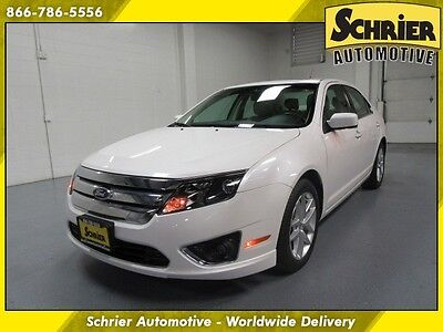 2011 Ford Fusion  11 Ford Fusion SEL White FWD Auxiliary 12 Volt Dual Climate Automatic