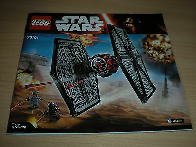Lego Instruction Manual - (75101) - First Order Special Forces TIE FIGHTER *New*