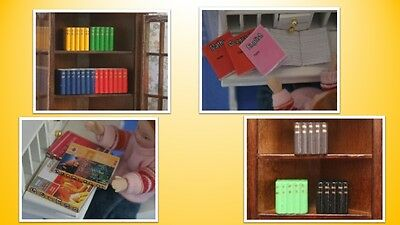 1:12 scale dolls house miniature selection of books 4 to choose from.