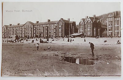 BARMOUTH, Marine Hotel, Merionethshire RP - 1911 - Vintage postcard