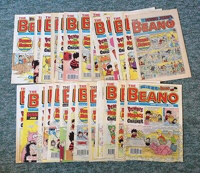 29x Bundle Vintage The Beano 1980's And 1990's Paper Comics