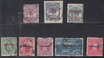Samoa Scott 19h,22,28,114-18 Used (Catalog Value $75.50)
