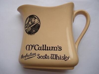 C1920S VINTAGE Mc CALLUM'S PERFECTION SCOTS WHISKY R.DOULTON MADE ADV WATER JUG