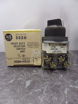 New Allen Bradley 800H-HR2A Heavy Duty Selector Switch Series E NIB