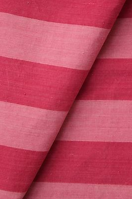 Vintage French ticking material pink red pillow material