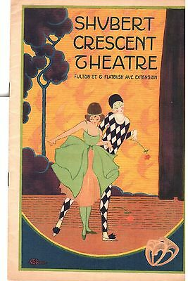 Vintage Theatre Program 1921 - Shubert Crescent Theatre Brooklyn
