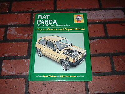 Haynes Manual For Fiat Panda. 1981 To 1995. Up To M Registration.
