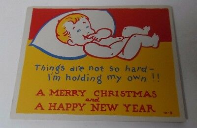 5 Vintage Naughty Christmas Cards