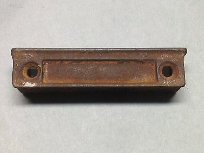 Antique Vintage Cast Iron Rim Lock Strike Plate Catch Keeper Part
