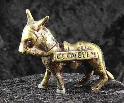 Clovelly Donkey ornament in brass 2 inches tall equine collectable  tourist item