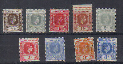Leeward islands George VI 1938-51 Seven values to 3d very lightly mounted mint