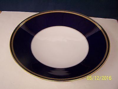 Hutschenreuther MONARCH. Cobalt Blue & Gold Footed Fruit Bowl