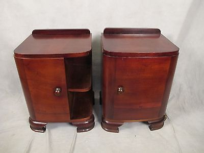 Beautiful Antique Art Deco Pair of Nightstands - 11267