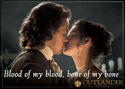 Outlander TV Series Jamie and Claire Blood Photo Image Refrigerator Magnet, NEW